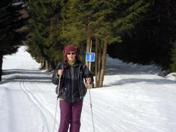 Jitka Kahounová na lyžích