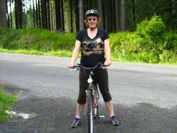 Jitka Kahounová na kole