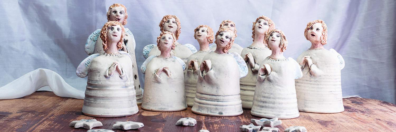keramičtí andělé